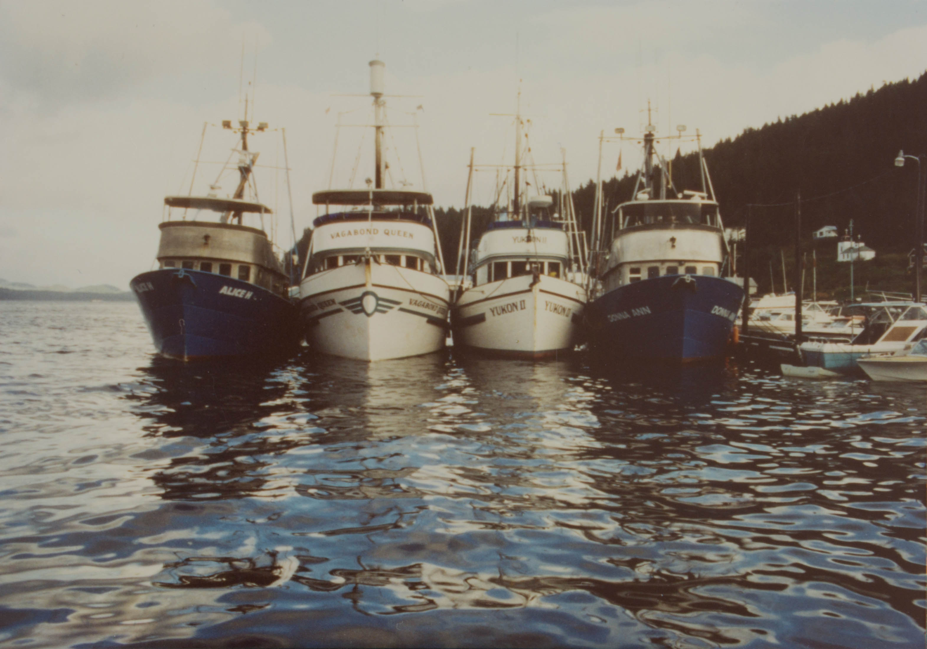 Fishing Vessels Alice H, Vagabond Queen, Yukon II and Donna