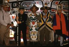 Men in Eagle Clan Regalia - Hoonah
