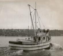William Johnson's New Boat Marie H. in Seattle