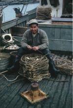Carl Marvin, Sr. at Cape Spencer, FV Yukon II