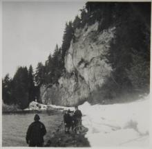 Hoonah Tunnel with People Walking the Beach