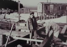 William Lee and Andy Jackson Help Build the ANB Hall
