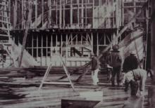 Men Working on Building the ANB Hall