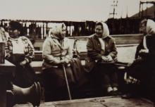 Elsie Isturis James, Mary Sarabia, Jessie Gray and Unknown