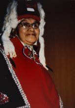 Ida Kadashan in Regalia and Headdress