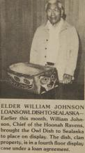 Newspaper Clipping of William Johnson