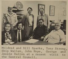 Newspaper Clipping of Daltons at Central Council