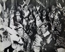 Old Group Photo in Regalia and Faces Painted
