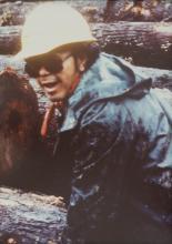 "George ""Digger"" Dalton, Jr. at Log Yard"