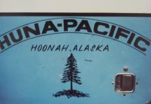 Huna Pacific Logo from a Logging Truck
