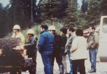 Group in Log Yard