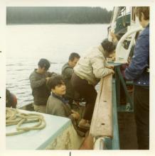 Assunta Climbing on Boat