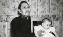 Marion McKinley In Salvation Army Uniform, Holding Baby