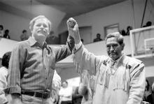 Governor Steve Cowper and George Dalton, 1989