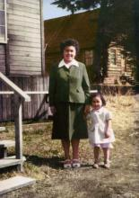 Eunice Glover And Her Mother Mary (Wright) Carteeti