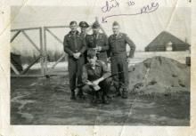 Ralph Knudson, Sr. in Group Military Photo
