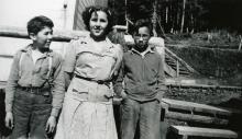 Bill Wolfe, Sr., Ione Wisdom, Henry Moy as Children