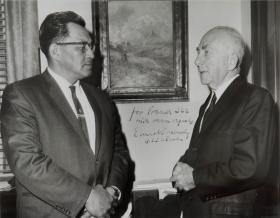 Frank See, Sr. with then Senator Ernest Gruening