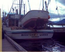 FV Western Queen Stern at the Hoonah City Dock