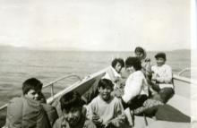 Group Photo In Bow of Boat